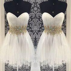 prom dresses,Short White Prom Dresses, Cheap prom dress, Graduation Dresses, Homecoming Dresses, Cocktail Dresses