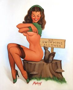 Baron von Lind pinup artist * Baron von Lind's pinup girls all share a sly smile and devilish sparkle in their eye. Baron von Lind (Jerry Lind) (b.1937) in Duluth, Minnesota, USA