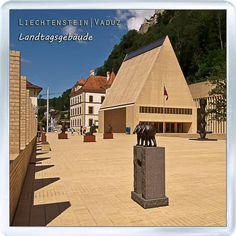 $3.29 - Acrylic Fridge Magnet: Liechtenstein. Vaduz. The Building Of Parliaments Of Liechtenstein