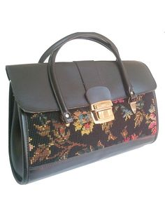 french 60S TAPESTRY HANDBAG by lesclodettes on Etsy, $55.00