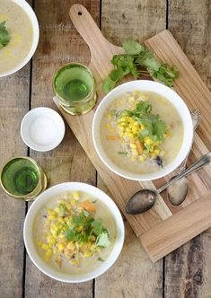 Winter Mexican Corn Soup  via Verses From My Kitchen