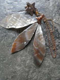 Seashell Dagger Statement Necklace Mermaid Jewelry by AJBcreations, $30.00