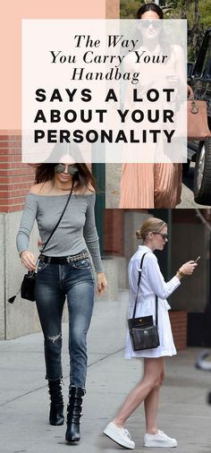 Think about the way you carry your favorite bag on the daily—do you typically grab it and arrange it on your arm (or shoulder) the same way, no matter what? According to body language experts, it's not a totally random decision.