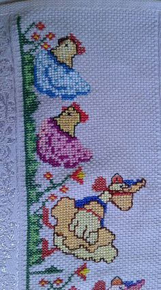 Cross Stitch House, Cross Stitch Bird, Cross Stitch Borders, Cross Stitch Animals, Cross Stitch Flowers, Cross Stitch Designs, Cross Stitching, Cross Stitch Patterns, Baby Embroidery