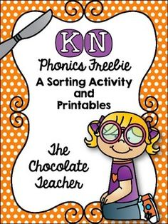 KN, printables, sortingKindergarten, 1st grade, word workKN Phonics Activities FreebieKN.  KN can be  confusing to young children as they learn to read and write .  This freebie pack is designed to give your students practice with KN words.  This unit includes a sorting activity ( KN vs.