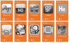 Een verzameling van gratis en betalende apps, onderverdeeld in de volgende categorieën:  leren lezen,  luisteren,  taalbegrip,  verstaanbaar praten,  stemgebruik,  woordenschat,  zinsbouw,  ...