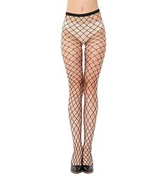 3505fe0dbc0e4 AISHNE Women's Sexy High Waist Fishnet Tights Fishnet Hollow Out Hight  Tights Stockings Pantyhose Fall Fashion