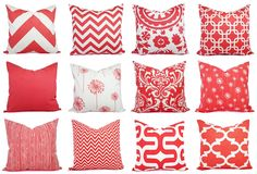 Coral Pillow Covers by CastawayCoveDecor