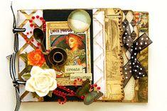 Scrapperlicious: Create Memories Acrylic Mini Album by Irene Tan using Clear Scraps mini mixables album and stencils