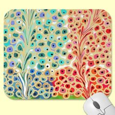 """Fancy Trees Mousepad by Dee.  Other items available with same print. a.k.a """"Exhibitionists"""" which is a digital painting of mine found on Fine Art America"""