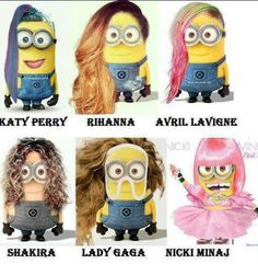 Whoever made this picture, took some of my favorite singers, and the amazing little minions, and made me LOVE THIS!!!