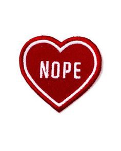 Hello Holiday · Nope Heart Patch