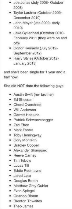 Aghjhh!!!! Thank you to whoever made this!!!! I'm tired of people thinking she dated half Hollywood.,,,