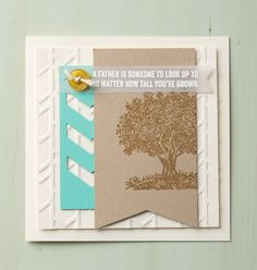 Fathers Day Stampin Up Chevron Border Punch Arrows Textured Impressions Embossing Folder