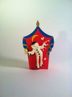 French Pierrot dancing to the French Cancan by LazyMermaidVintage, $30.00