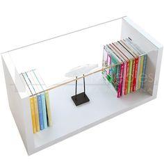 mesa ratona rectangular - con tapa de vidrio diseño moderno