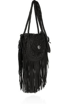 Ralph Lauren fringed textured leather bag