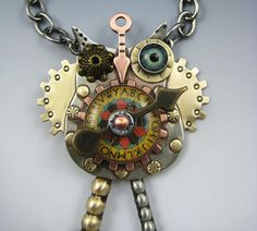 Steampunk Owl, Steampunk Jewelry, Owl Necklace or Pin, RP0494