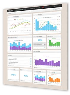 Business data dashboard by Minubo