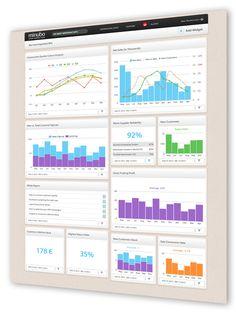 Business data dashboard by Minubo