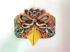 Steampunk Diva Bird Ceramic Mask by Uturn on Etsy