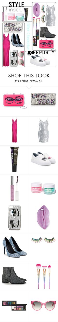 """Glitter Obsession"" by thewiseriver ❤ liked on Polyvore featuring G-lish, From St Xavier, Haider Ackermann, Chiara Ferragni, Forever 21, FCTRY, STELLA McCARTNEY, FromNicLove, Senso and Gucci"