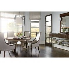 Stanley Villa Couture 5Pc Ana Round Dining Set in Mottled Walnut - Formal Dining Sets - Dining Sets by Dining Rooms Outlet