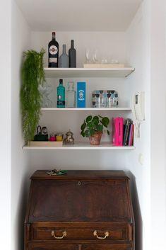 En este post hay pintura, DIY, y un mueble bar improvisado, ¡ven a verlo!  Te recomiendo la pintura Ecosphere de Graphenstone, tu casa puede ser un árbol!