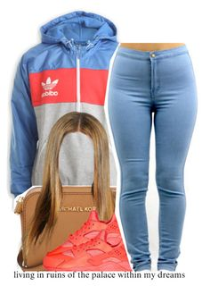 """""""back to school..."""" by trinityannetrinity ❤ liked on Polyvore featuring adidas, Michael Kors and NIKE"""