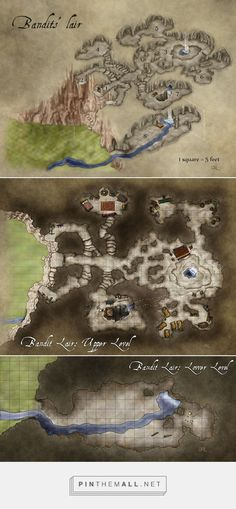 Bandit Lair - Fantastic Maps - created via http://pinthemall.net