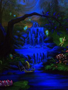 Best Enchanted Forest Bedroom Mural Under The Blacklight At 400 x 300