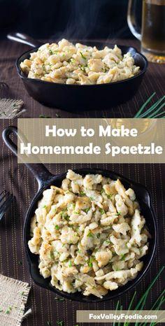 How to make homemade spaetzle