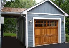 Backyard garage - Highlands Garages :: Prefabricated Garage Building Kits :: Summerwood Products