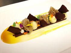 Dessert for Miami Magazine Photo Shot: Chocolate Ganache, Hazelnut Sponge, Passion Fruit | | Antonio Bachour via Flkr