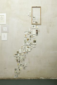 What a clever wall collage.  As a creator of small artworks it is often difficult to display them in a way to give them any presence in a room. Of course a collection of small works does the job nicely