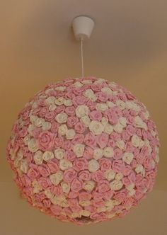 IKEA Hackers: lighting, 5 dollar ikea light plus crepe paper flowers perfect for my little princesses room!