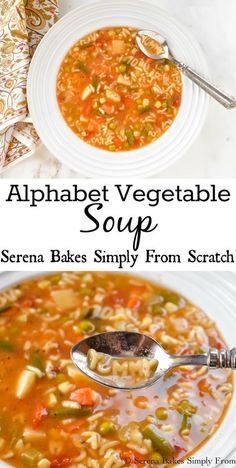 Alphabet Vegetable Soup www.serenabakessimplyfromscratch.com