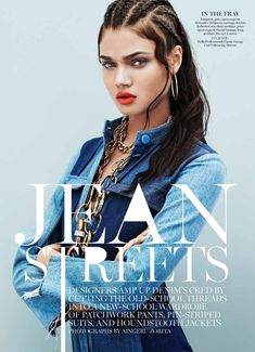 daniela braga pictures2 Daniela Braga Wears Denim with Attitude for Marie Claire by Aingeru Zorita