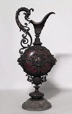 victorian porcelain urn | French Victorian accessories urn/vase metal