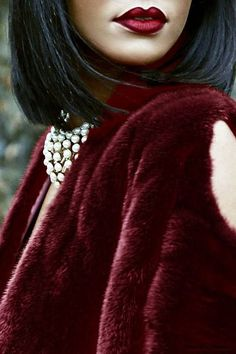 Burgundy, Fur, Women's Fashion, Designer, Designer Inspiration Board: Burgundy, Bar Napkin Productions, bnp-llc.com
