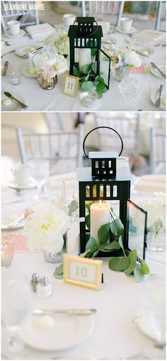 Lantern centerpieces for a wedding reception at Carlson Towers in Minnetonka, MN…