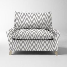 Bliss Down-Filled Chair-and-a-Half - Prints #westelm, like the herring bone print, not the chevron shown