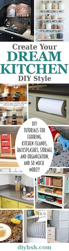 DIY Kitchen Organizing and Remodeling Ideas For Every Budget. #HomeImprovemment #DIY DoItYourself #Organizing #Kitchen #Home