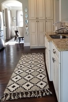 196bec6a184c49 Most stylish Kitchens of Instagram The perfect neutral rug for every home.  Handmade on traditional looms this stunning rug is made of wool & art silk.