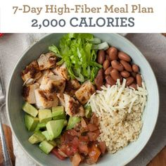 7-Day High Fiber Meal Plan: 2,000 Calories - EatingWell