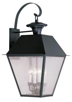 Livex Lighting 2172-04 Mansfield Wall Light Black