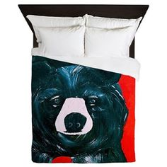 Black bear Duvet Cover from my artwork. by maremade on Etsy