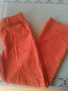 lauren by ralph lauren orange Corduroy pants.Womens Sz 12. #LaurenRalphLauren #Corduroys