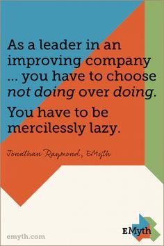 Choose Not Doing Over Doing