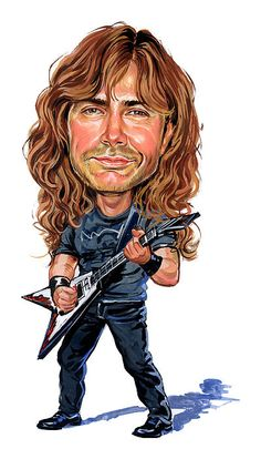 Dave Mustaine by Art   - Dave Mustaine Painting - Dave Mustaine Fine Art Prints and Posters for Sale